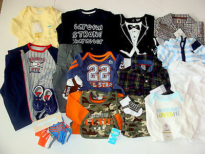30pc NEW Baby Boy Size 6-9 6-12 Months Fall Winter Clothes LOT Carters