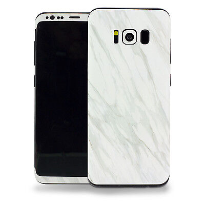 Samsung Galaxy S8 Plus 3M Vinyl Protective Skin Decal Sticker (White Marble)