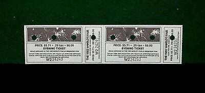 1982 Worlds' Fair Evening Tickets (2) With Stub Attached