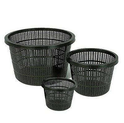 BASKET WITH HESSIAN for outdoor garden pond - planting pot aquatic lily plant