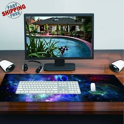 COOL! Large Mouse Keyboard Pad Computer Gaming Desk Soft Mat Optical Mousepad PC