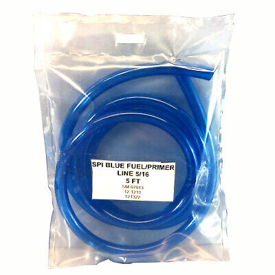 "New Spi Blue Fuel Line Id 5/16"" Pre-Cut To 5 Ft Polaris Honda Kawasaki Yamaha"
