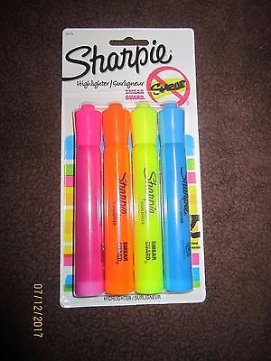 Sharpie Accent Tank-Style Highlighter 4 Colored 25174 BACK TO SCHOOL