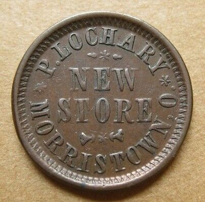 SMT Morristown Ohio Civil War Token - P. Lochary's New Store - OH565A-1a R-5 EF