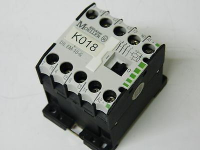 Moeller DIL EM-10-G 4kw 3 polo Contactor + 1X N/O 24vdc Coil