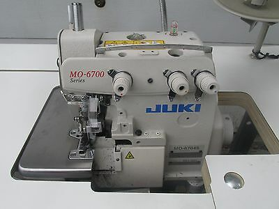 Juki MO-6704S Three Thread Industrial Serger Sewing Machine w/Table - EXC!