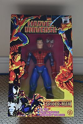 """Marvel Comics Marvel Universe 10"""" tall Action figures Spider-man and Daredevil"""
