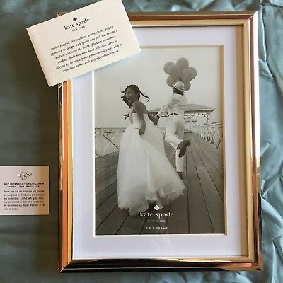Kate Spade NY Lenox Picture Frame Rosy Glow 5x7 Silver Rose Gold Wedding Gift