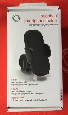 Bugaboo Smart Phone Holder Black Baby Stroller Accessories, New