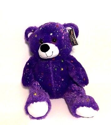 "Purple Sparkling Teddy Bear  19"" tall Zippidy Kids"
