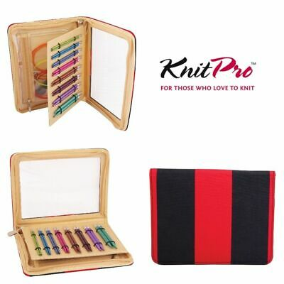 KnitPro Zing 'Deluxe' Interchangeable Needle Set - Red/Blue Case & Accessories