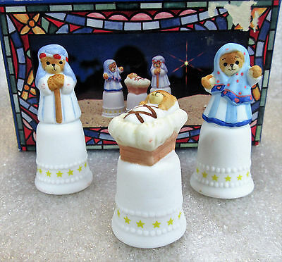 Lucy & Me Joseph Mary Jesus Nativity Thimble Set