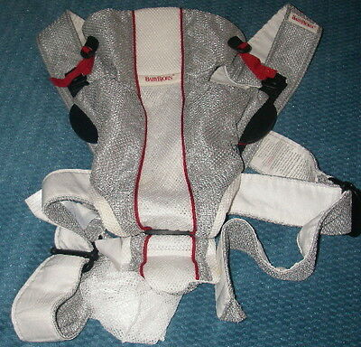 Baby Bjorn White & Silver Cool Mesh Baby Carrier