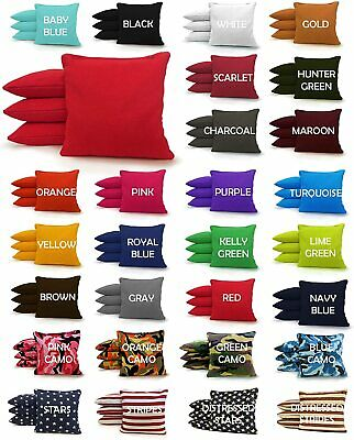 Top Quality - Set of 8 Cornhole Bags Regulation Size - 25 Colors - Corn Filled