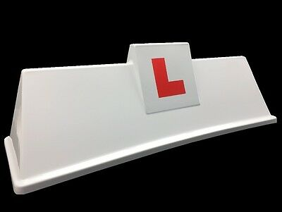 School Of Motoring Instuctor Driving School Sign Magnetic Roof Box L Plates
