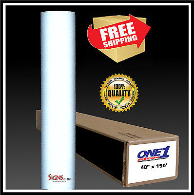 "49"" x 150 ft  WHITE  Reflective Vinyl Adhesive Sign High Reflectivity Printable"