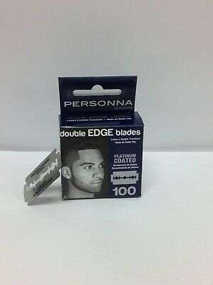 Personna Double Edge Stainless Steel Blades 100 Pcs Safety Barber Shaving Razor