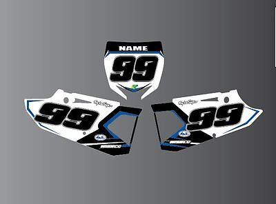 Yamaha Yz Yzf 85 125 250 450 Number Board-Backgrounds-Decal-Mx-Stickers 1