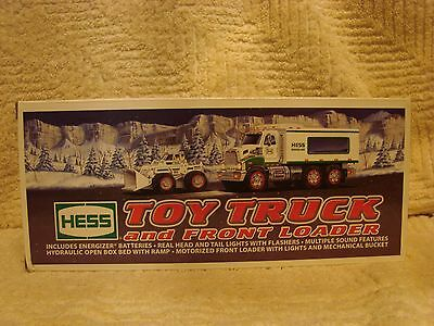 2008 Hess Toy Truck And Front Loader, New