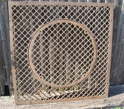 """Large 29"""" Vintage Cast Iron Architectural Floor Register Heating Grate ~Table! ~"""