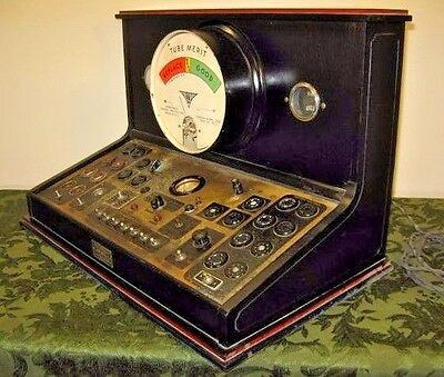 ~Rare~ Vintage Jewell Pattern 538 Countertop Tube Checker Commercial Tube Tester