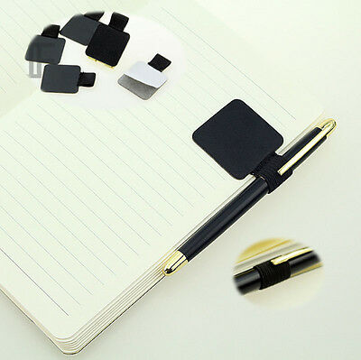 Lot Business Style Self Adhesive Leather Pen / Pencil Loop Notebook Clip Holder