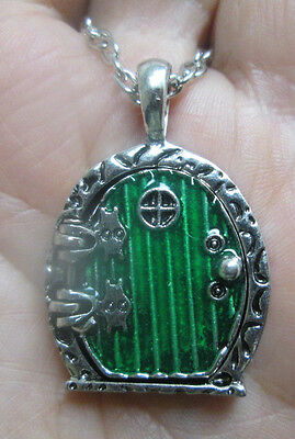 Hobbit Door Locket Necklace in Silver Lord of the Rings inspired