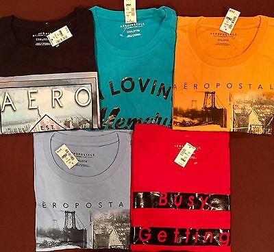 NWT Aeropostale Mens T Shirts Lot of 5 3X 3 XL Triple Worldwide ship Resale