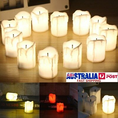 60 LED Tea Light Candle Tealight Flameless Flickering Battery Operated Wedding