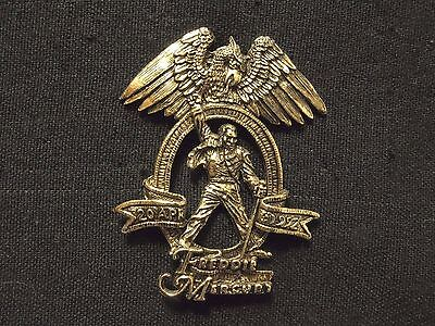 Queen/freddy Mercury Official Vintage 1992 Concert Tribute Pin Badge Not Patch