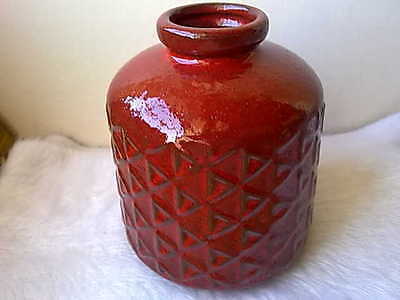 Vintage Geometric Cross Vessel Pottery Vase