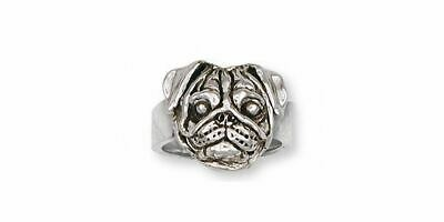 Pug Ring Jewelry Sterling Silver Handmade Dog Ring PG30-R