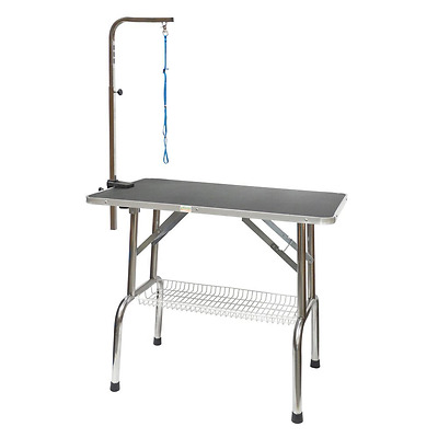 Go Pet Club GT-201 30-Inch Heavy Duty Stainless steel Pet Dog Grooming Table wit