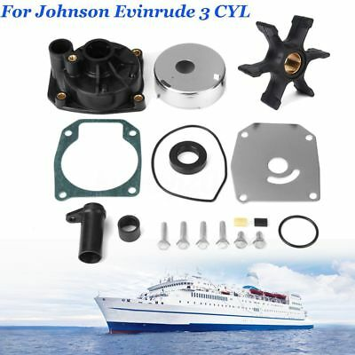 For Johnson Evinrude 3 CYL 60 65 70 75 HP Water Pump Impeller Kit 438597 432955