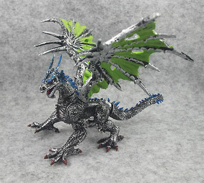 """Fantasy Silvery Dragon Action Figure 6"""" Assembled Children Toy Model"""