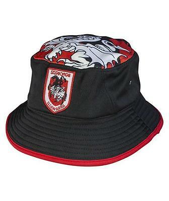 NRL 2017 Bucket Hat - St George Illawarra Dragons - Size Adult + Youth - BNWT