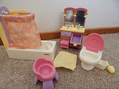 Fisher Price Loving Family Dollhouse Furniture Bathroom