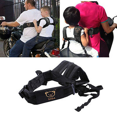 Motorcycle Baby Kids Safety Seat Strap Belt Harness Chest  Safe Buckle Black