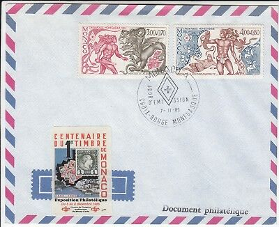 Red Cross Monaco 1985 FDC