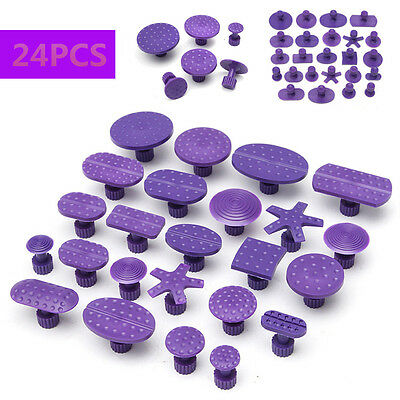 24X Car Auto Paintless Dent Lifter Glue Tabs Puller For Hail Removal Repair Tool