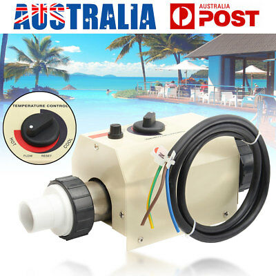 2KW 220V Swimming Pool & SPA Bath Hot Tub Water Electric Heating Thermostat AU