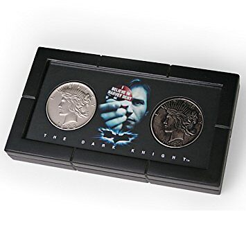 Batman The Dark Knight Harvey Dent Two Face Coin Set Licensed Noble Collection