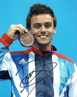 Tom DALEY Autograph Signed Photo 1 AFTAL COA Diving Olympic Gold Medal Winner