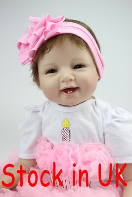 "Fast Ship 22"" Real Looking Baby Doll Reborn Soft Silicone Vinyl Reborn Doll"