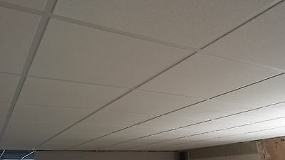 20m2  SUSPENDED CEILING KITS INCLUDING SANDTONE TEXTURED 600 x 600 CEILING TILES