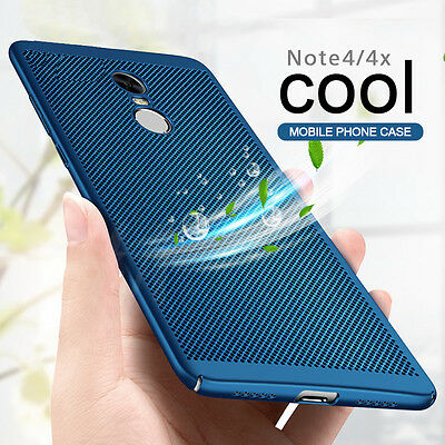 Thin Slim Matte Breathable Mesh Radiating Hard Back Case Cover For Xiaomi Redmi