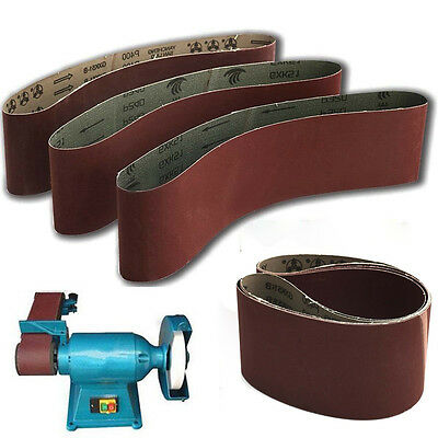 100 x 915mm Sanding Belts 40~1000 Grit For Wood Metal Grinding Abrasive Tool