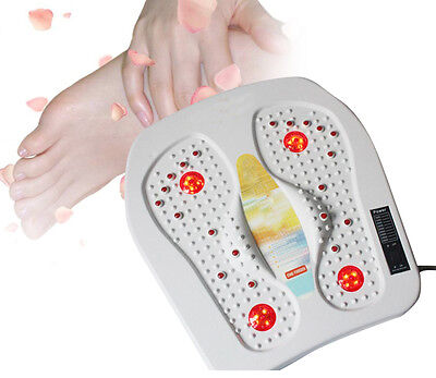 Far Infrared Heat Foot Massager Blood Circulation Pain Relief ABS plastic White