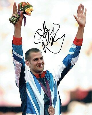 Robert Robbie GRABARZ Autograph Signed 10x8 Photo Olympic High Jumper AFTAL COA