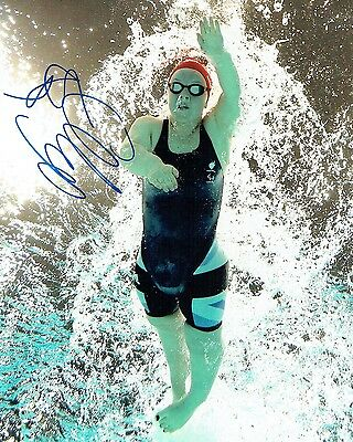 Ellie SIMMONDS Gold Medal Olympic Swimmer Autograph Signed Photo AFTAL COA